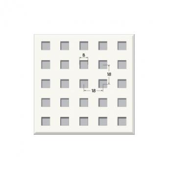 אריח גבס מחורר 8/18Q, מונח. T24 610X610