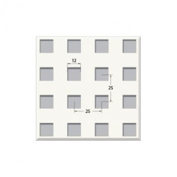 אריח גבס מחורר 12/25Q, מונח.    T24 610X610