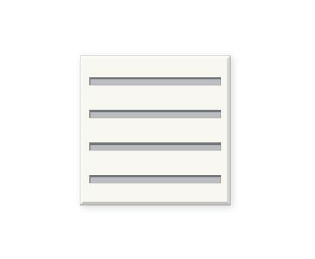 אריח גבס מחורץ 5/82/15.4SL, מונח, T 610X610