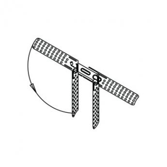 """לוחית תליה מחוררת ל- CD60 אורך 200 מ""""מ"""