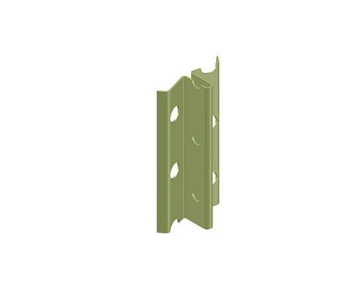 """מאייקים - סרגל פח מגולוון ליישור קיר, עובי 10 מ""""מ"""