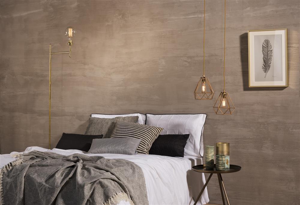 אפקט בטון בחדר שינה