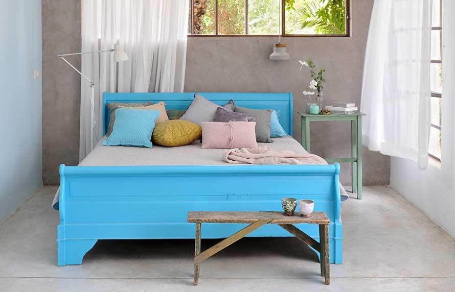 טיח ערבה חדר שינה -אפקט-בטון