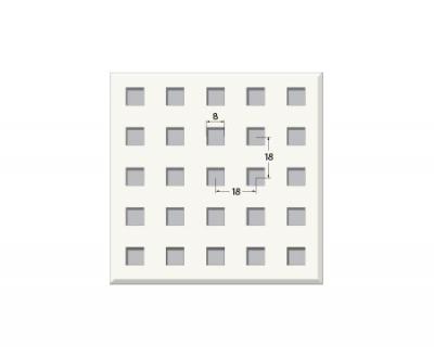 אריח גבס מחורר 3.5/9Q מיקרו, חצי שקוע. T15 600X600