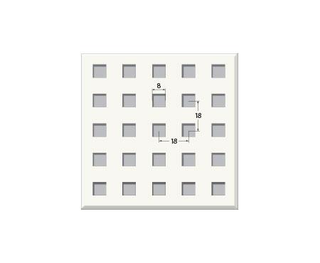אריח גבס מחורר 8/18Q, חצי שקוע. T15 600X600
