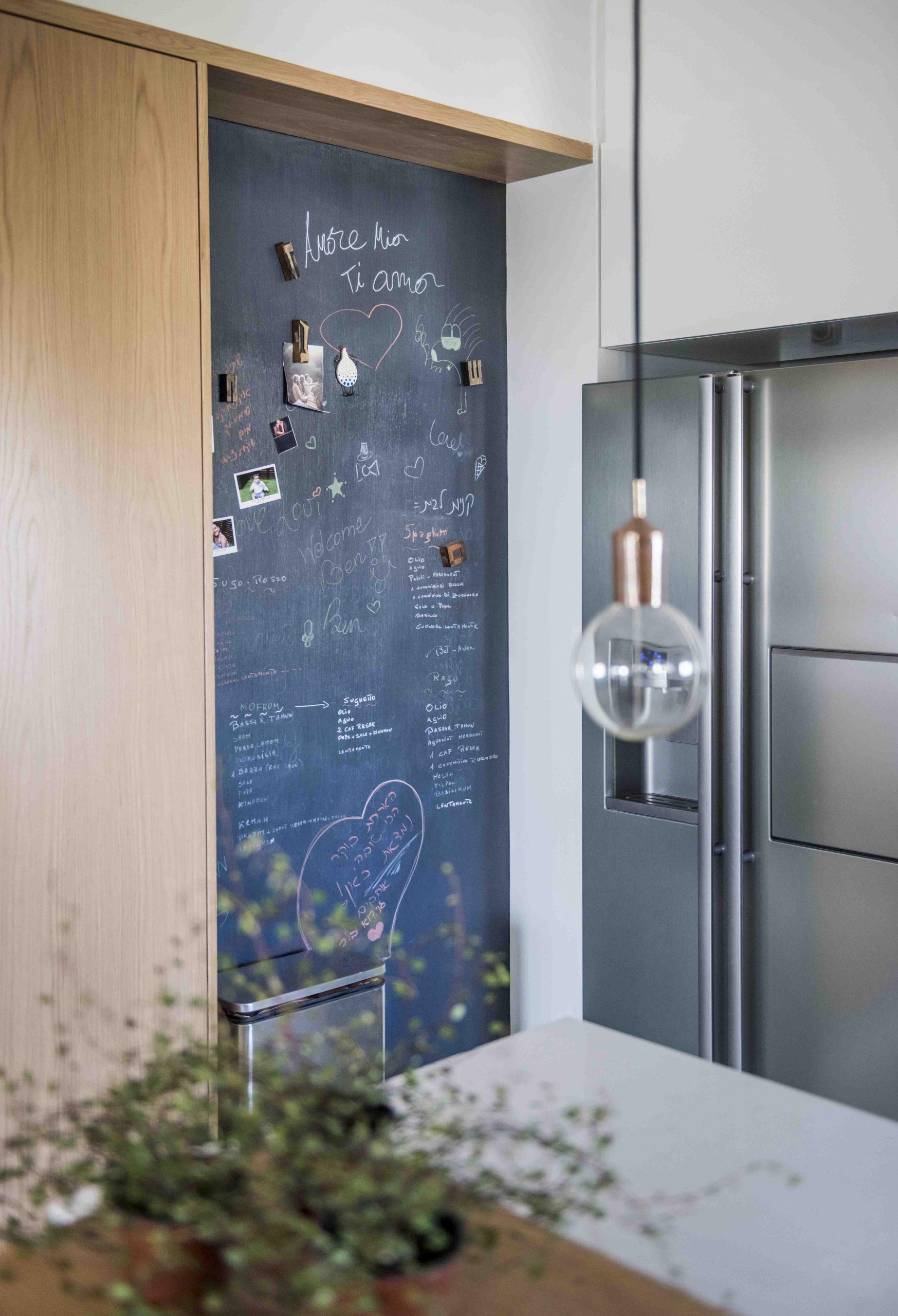 קיר מגנטי במטבח
