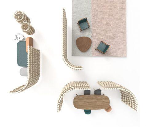 מחיצות אקוסטיות בעיצוב פטרה וונק